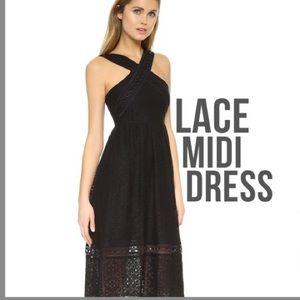 J.O.A. Eyelet Lace MIDI Dress